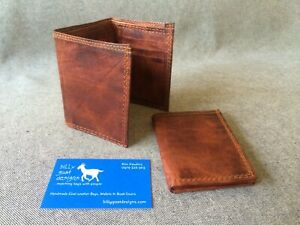 Goat-Leather-Wallet-Trifold-WM3-Tri-fold-Cash-Cards-Handmade-Billy-Goat-Designs