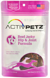 ActivPetz Hip Joint Jerky Treats for Dogs Beef Helps hip joint health 7oz