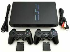 2 Wireless Controllers Sony Ps2 Game System Gaming Console Playstation 2 Black
