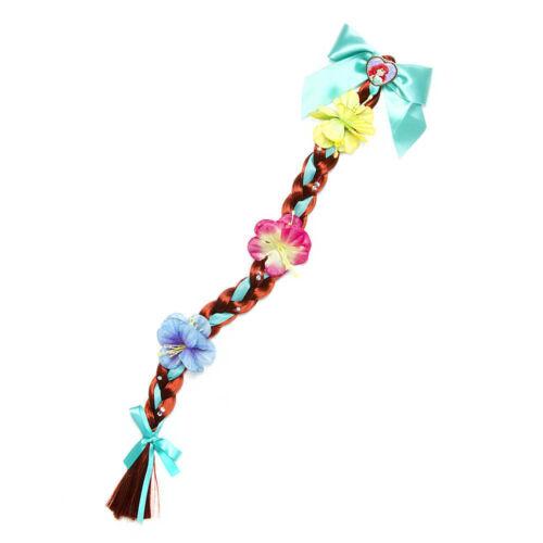 Disney Princess Ariel Faux Hair Braid Barrette The Little Mermaid Flowers NWT