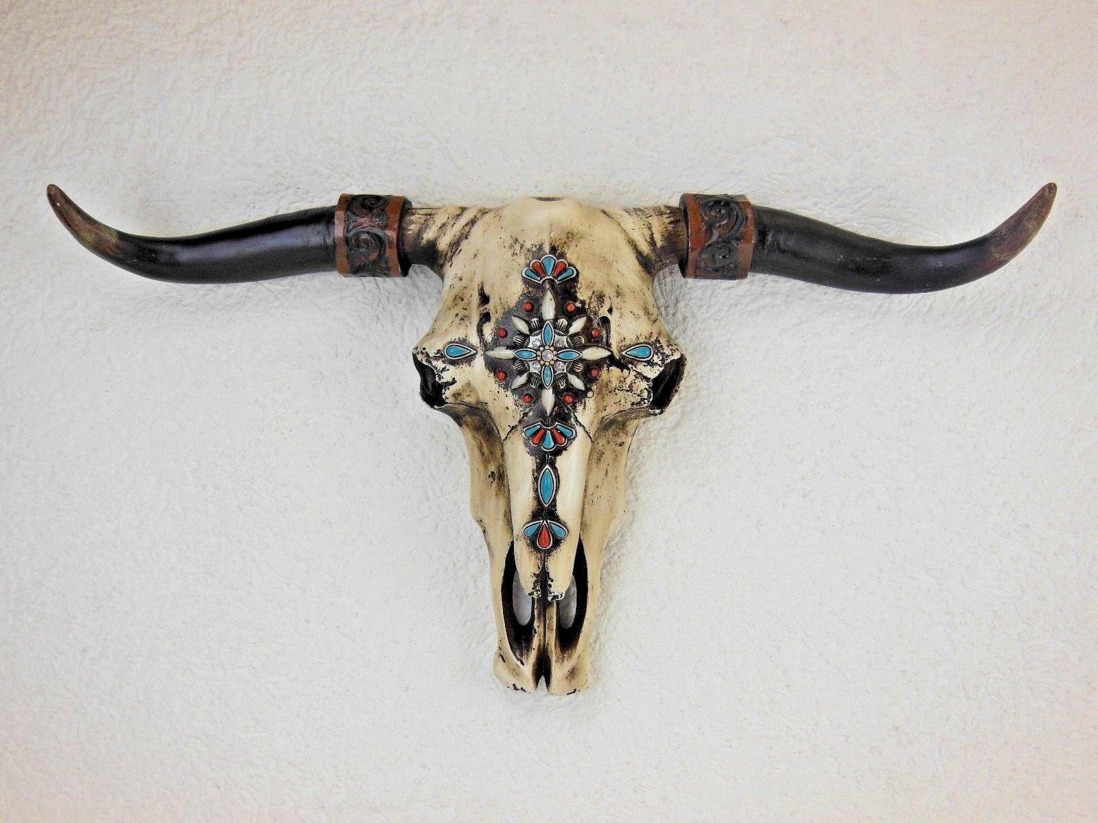 Büffel Stierkopf Anhänger XXL Schädel Stier Bulle Geweih Western Indianer Spirit
