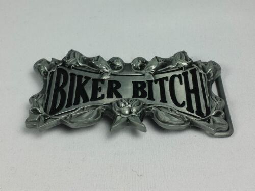 Boucle de Ceinture Buckle Motard Bitch Mc moto en métal noble