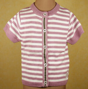name-it-Strickjacke-Strick-Jacke-rosa-gestreift-Baby-Kinder-Gr-86-92-Neu