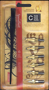 Calligraphy-Pen-amp-Nib-set-6-Speedball-C-style-Lettering-Dip-Pen-for-ink-drawing