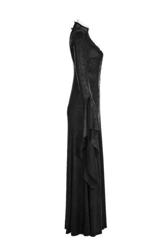 Punk Rave WQ-349 Romantic Goth Long Side Slits maxi Dress