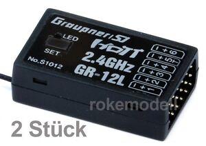 2-x-Graupner-S1012-GR-12L-HoTT-Empfaenger-fuer-6-Servos-2-4-GHz-Stueckpr-40-80