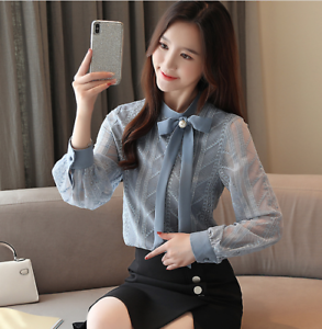 Bowknot Tie Korean Fashion Button Loose Fit Sex Women S Farry Classic Shirt Tops Ebay We believe in helping you find the product that is right for you. ebay