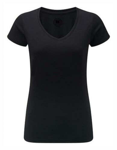 Damen T-Shirt mit V-Ausschnitt Oeko-Tex® Standard 100Russell