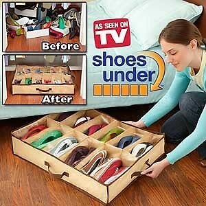 SHOES UNDER – SPACE SAVING SHOE ORGANIZER & PROTECTOR