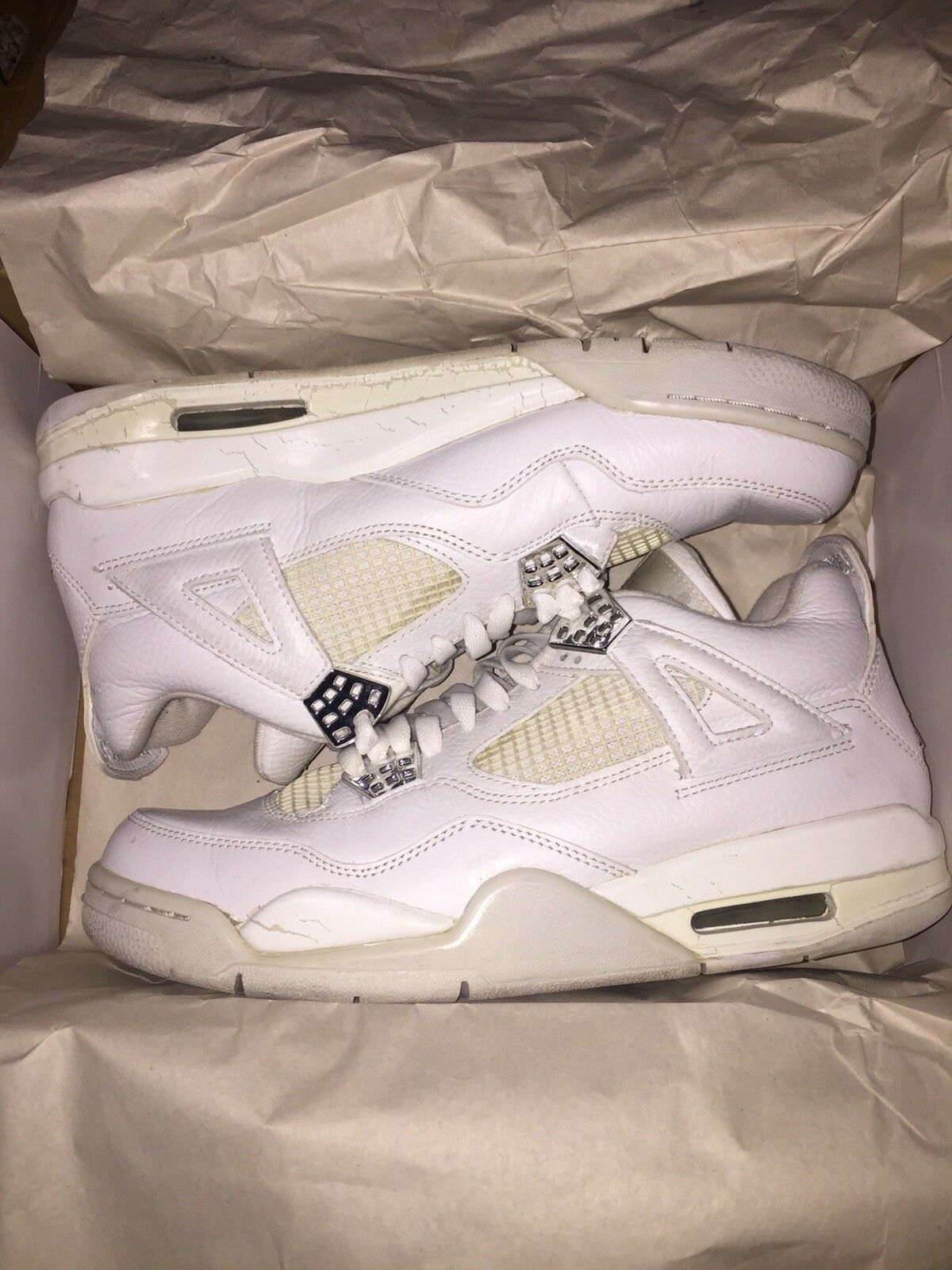 Air Jordan Retro 4 IV OG 2005 Pure Money Men's Comfortable