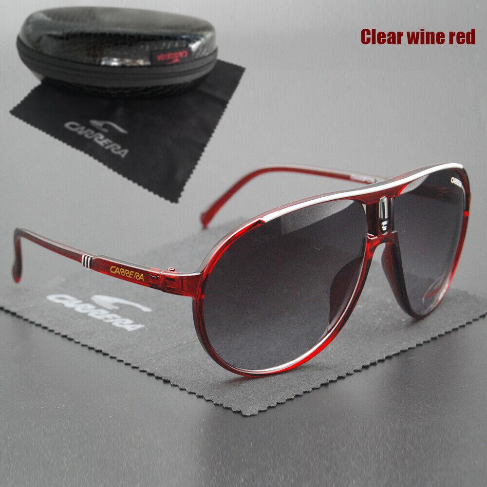 New Fashion Men Women Retro Sunglasses Unisex Square Matte Frame Carrera Glasses