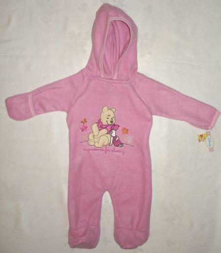 Anzug Strampler Fleece Overall 50-74 NEU Fleecestrampler Winnie Pooh rosa Gr