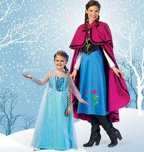 Image is loading From-UK-Sewing-pattern-Girl-039-s-Fancy-  sc 1 st  eBay & From UK Sewing pattern Girlu0027s Fancy Dress Costume Anna Elsa Frozen 3 ...