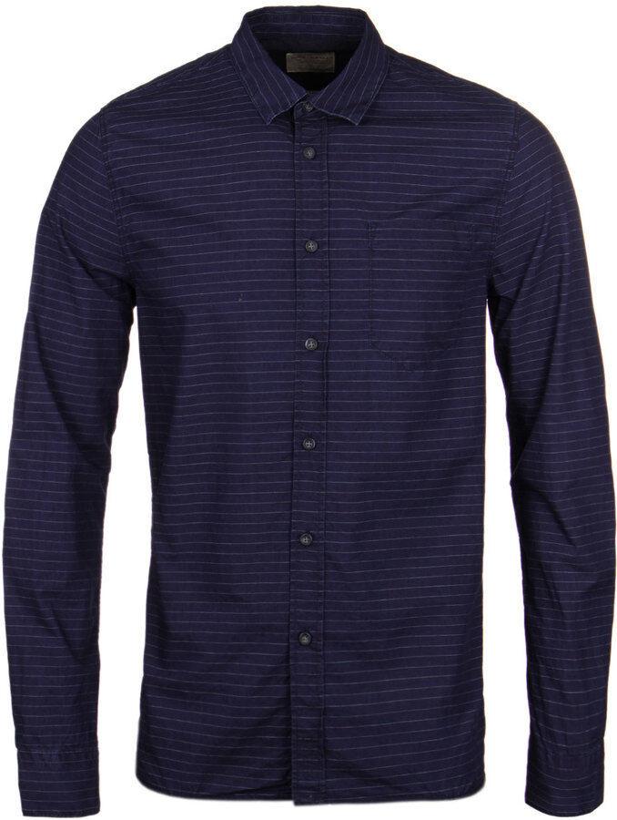 Nudie Jeans Henry Indigo Weft Stripe Shirt