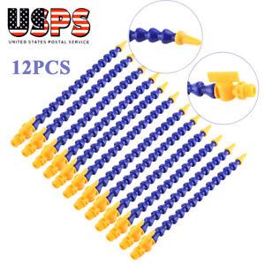 12pcs-Flexible-Plastic-Water-Oil-Coolant-Pipes-Hose-for-Lathe-CNC-Miling-Nozzle