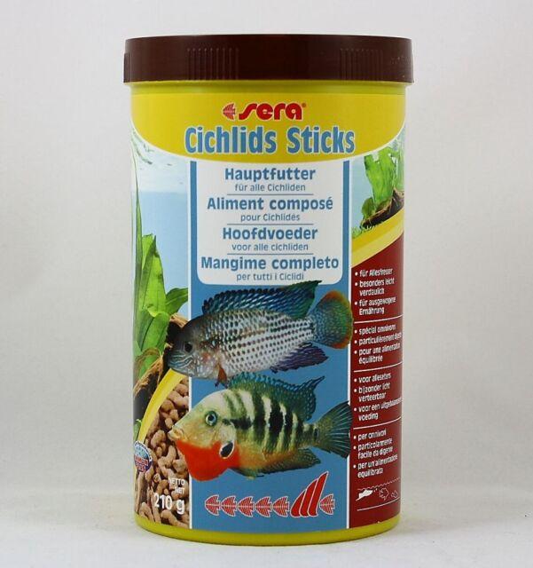 Sera Cichlids Sticks 1000ml Alimento Principal para Todos los Cíclidos 16,49€/ L