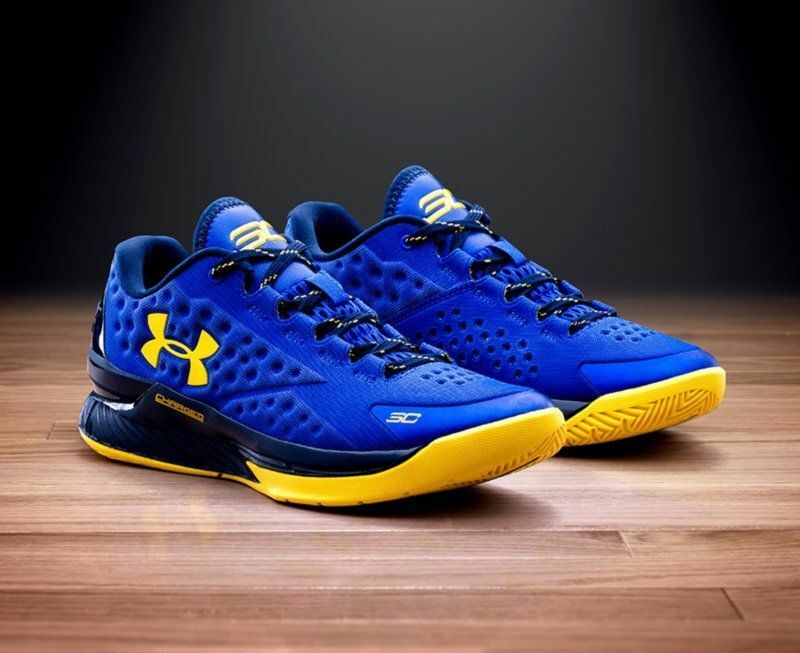 Under Armour Curry Curry Curry 1 Low Home One OG NEW DS Dub Nation royal taxi Blau Gelb 0b74a2