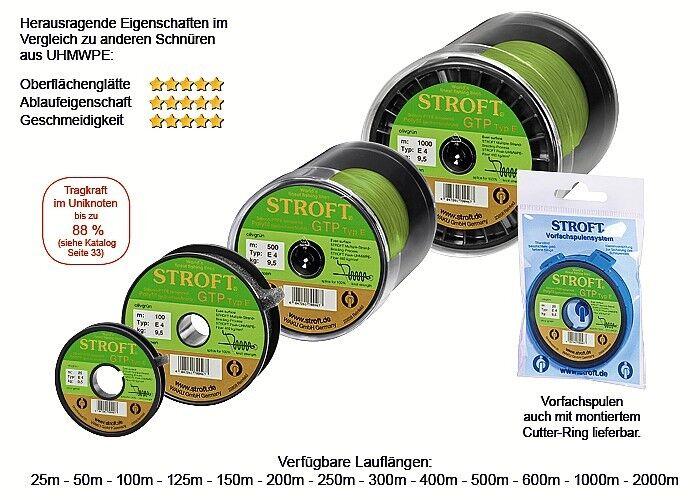 STROFT GTP E E E 300 m Olivgrün olive Grün Geflochtene Angelschnur von E06 bis E8 deadd4