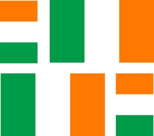 4x ireland irish flag decals sticker bike scooter car vinyl luggage helmet