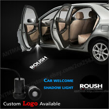 Car Door Welcome Laser Courtesy Projector Ghost Shadow Light For Ford Roush Logo Fits Focus