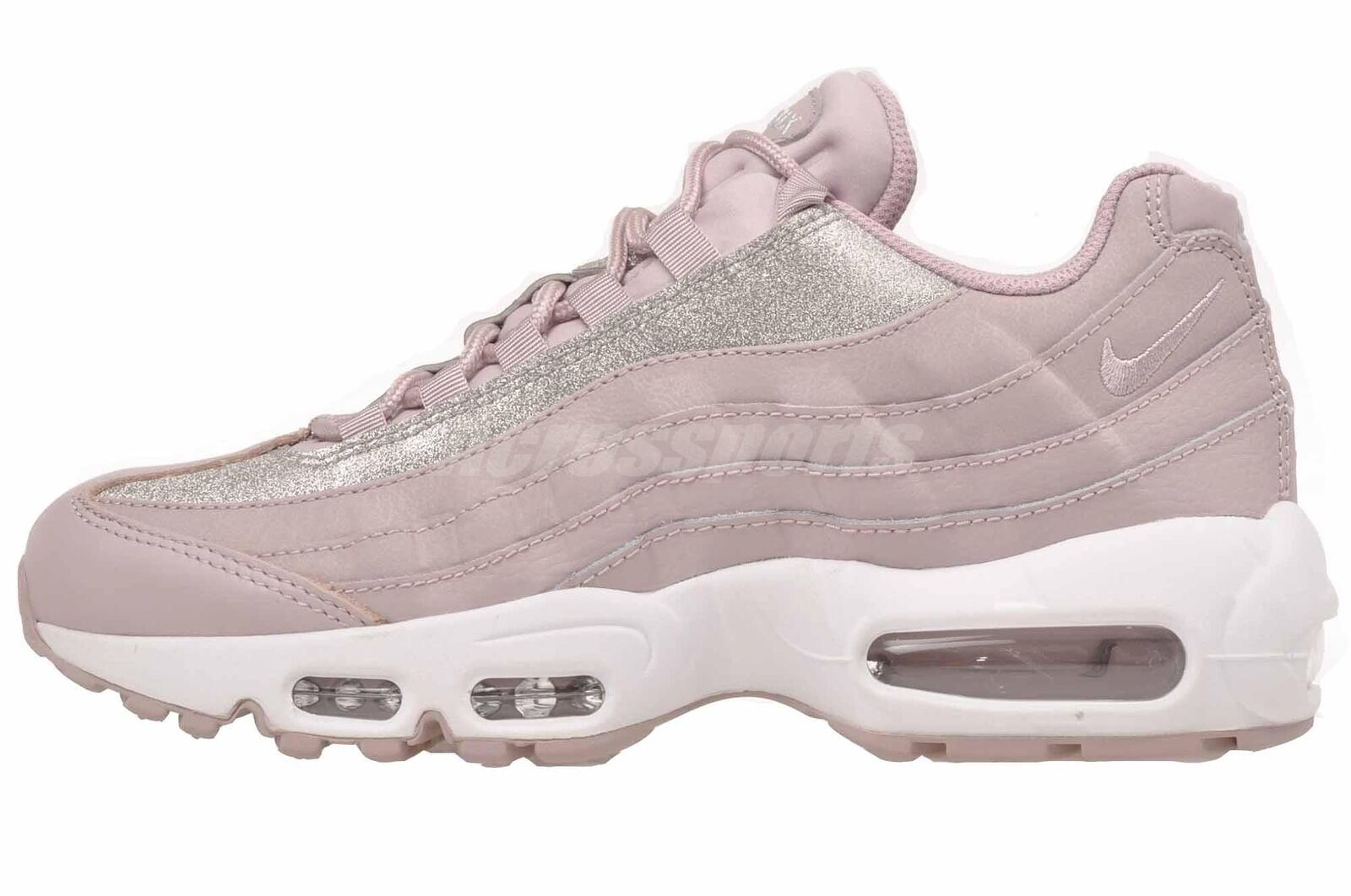 Nike Air Max 95 SE Glitter Womens At0068-600 Rose Pink Running Shoes ... a5faab7414