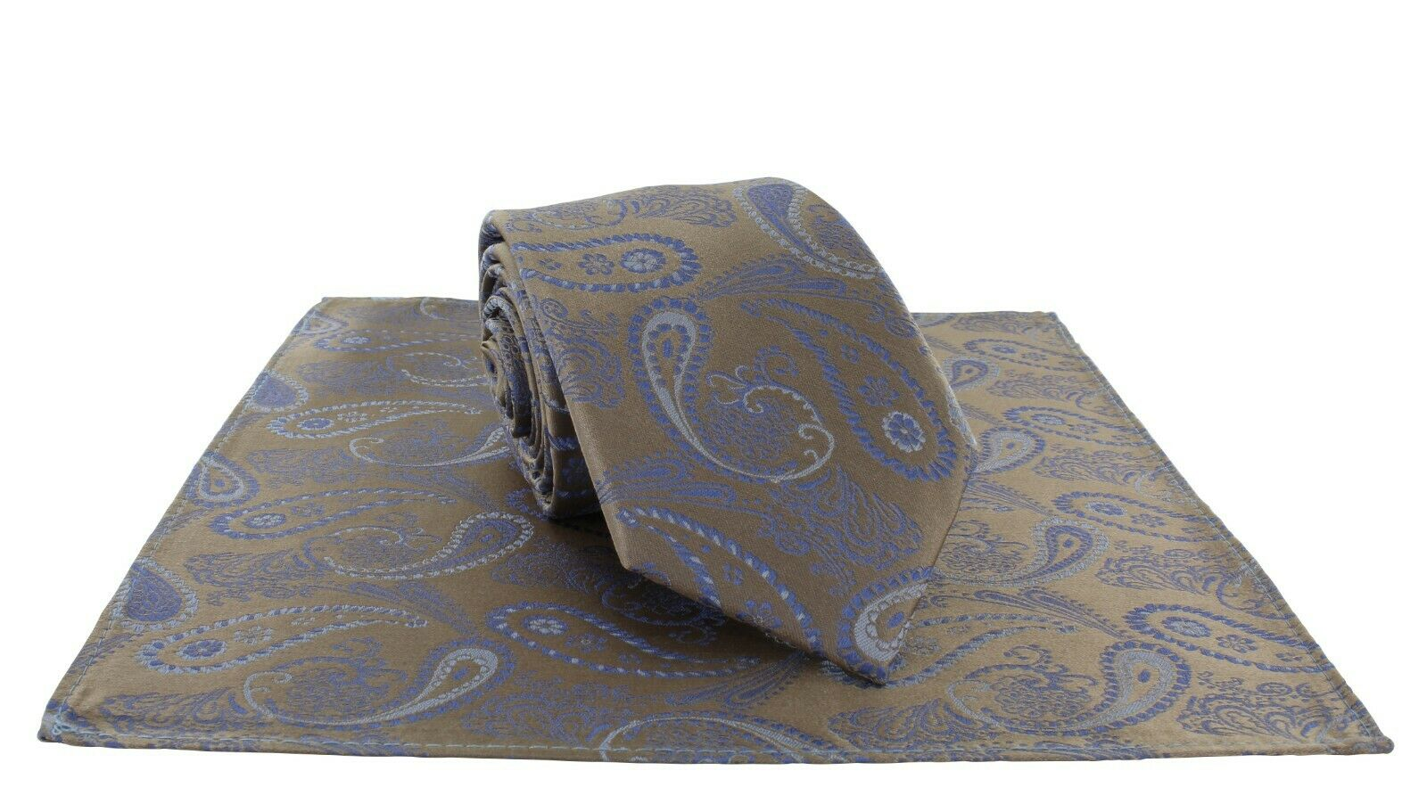 Delicate Paisley Silk Tie & Pocket Square Set