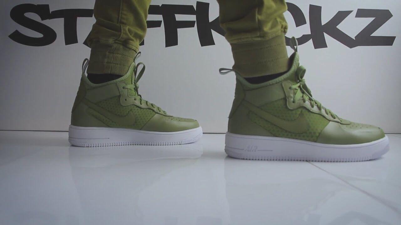 Nike Mens Air Air Air Force 1 UltraForce Mid 864014-301 Palm Green-White size 10.5 us dc0bee