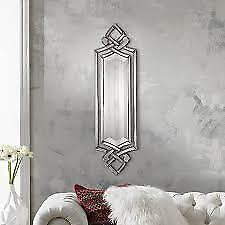 Large Layered Designer Wall Mirror Modern Glass Frame Frameless Venetian Horchow For Sale Online Ebay