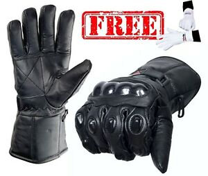 EVO-Pro-Leather-Thermal-Wind-Waterproof-Motorbike-Motorcycle-Gloves-Thinsulate