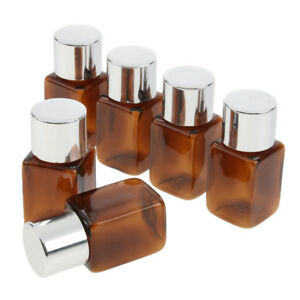 e50a6c41c01b Details about 6pcs Square Refillable Empty Essential Oil Perfume Makeup  Bottle Containers