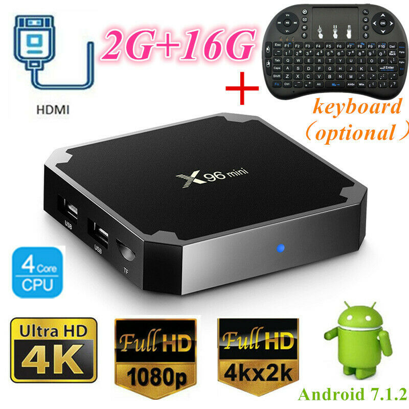 Lot X96 Mini Smart TV BOX S905W Quad Core 4K WiFi 2+16G Android Player +Keyboard android box core lot mini quad s905w smart wifi x96
