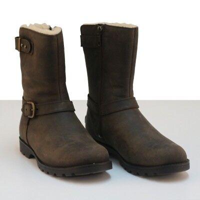 UGG W Grandle 1003579 Damen Biker Boots, dunkelbraun   eBay