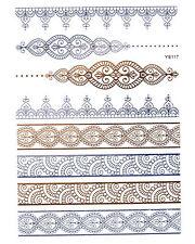 GOLD SILBER Tattoos Flash Tattoos Armbänder Ornamente Einmal-Tattoo YS-117