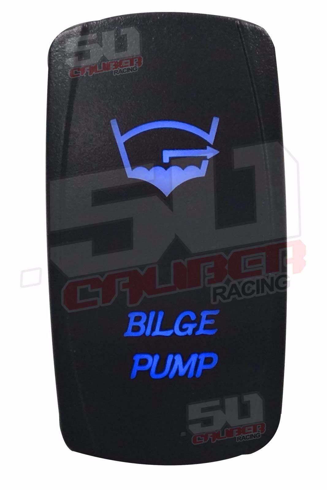 Bilge Pump SPST On/ Off Rocker Switch Blue Alumaweld Bayliner Cobalt Chris Craft