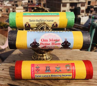 Tibetan And Nepalese Retreat Incense Sticks Tube Packing