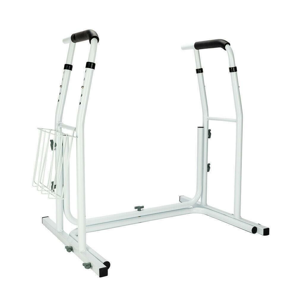 Medical Bathroom Adjustable Height Toilet Rail Grab Bar and Commode Safety Frame