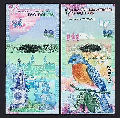 ND//2009 p57 Onion Prefix UNC Bermuda 2 Dollars