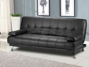 Image Is Loading Italian Modern Sofa Bed Futons In Black Faux