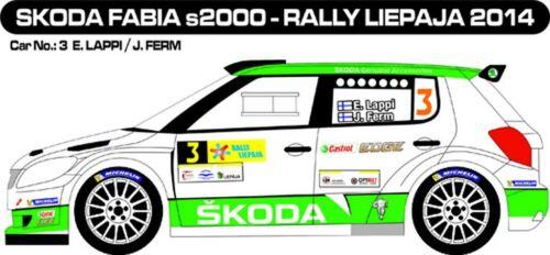 Details about  /Decals 1//43 skoda fabia s2000 #3 2014-liepaja mfz d43280-  show original title lappi rally