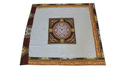 Middle Eastern Egyptian Moroccan Home Decor Square Patchwork Tablecloth