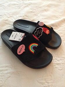c5c9c4a6e3 New Zara Women Cartoons Slides On SZ 6.5 15601101040371 | eBay