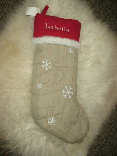 New Pottery Barn Kids Woodland Snowflake Burlap With Red