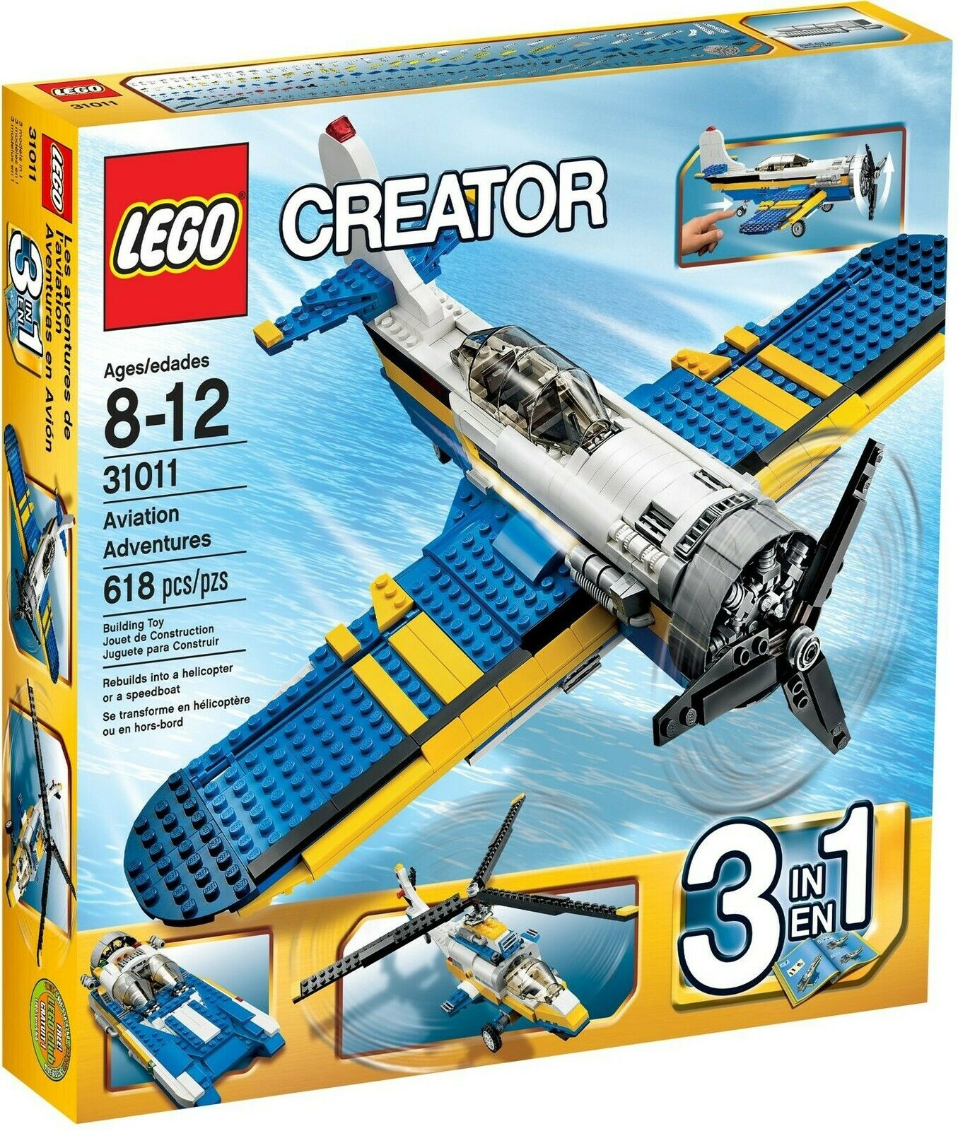 Lego Creator 31011 Aviation Aventures 3 en 1 Ensemble de Construction, Scellé,