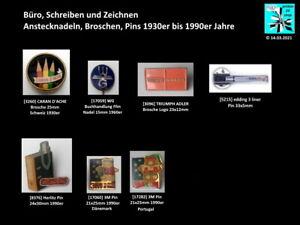 Büro, Schreiben und Zeichnen Abzeichen, Anstecknadeln, Broschen..1930er-1990er