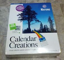 "Calendar Creations: Nature - Spinnaker - 3.5"" Floppy Disks for Windows 3.1 - NEW"