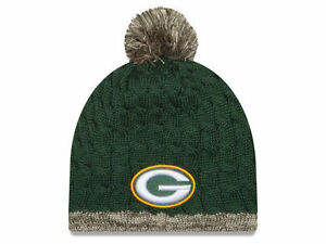 437affbb3 Details about New Era Green Bay Packers Women s Salute To Service Knit Hat  2015
