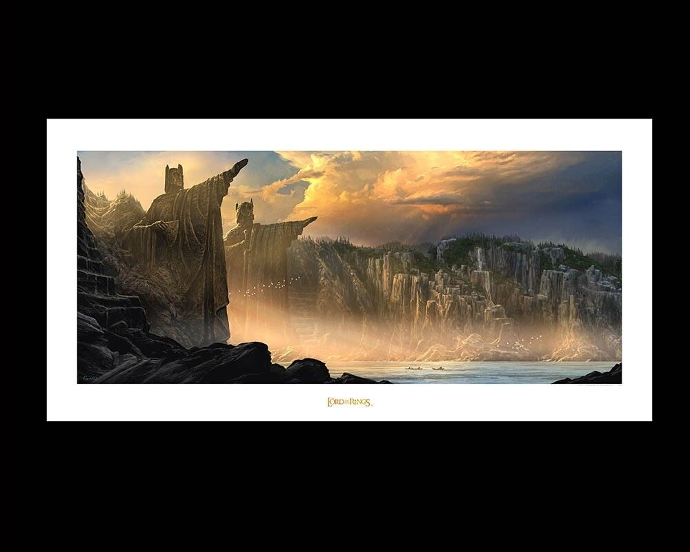 LORD OF THE RINGS - Argonath Pillars of the King - Art Print WETA Genuine LOTR.