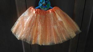 Tutu-Elastique-Brillant-Orange-pour-Filles-Fete-Deguisement-Ballet-Danse-22-36