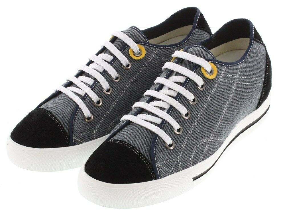 TOTO L08101 - 2.4 2.4 2.4 Inches Elevator Height Increase Sneaker Grey & Black Canvas 29bdc9