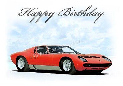 Subaru Impreza  18th 21st 40th 50th  Birthday Car Son Dad Greetings Card